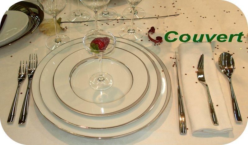 Dictionnaire de cuisine et gastronomie couvert - Comment mettre un couvert de table ...